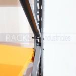 El rack industrial está íntegramente construído en hierro y es adaptable a exigencias de carga