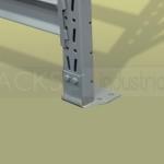 La estructura de hierro del rack soporta cargas de hasta 3 toneladas por pallet